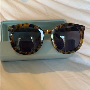 Karen Walker Super Duper tortoise round sunglasses